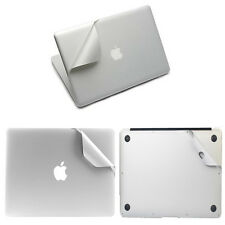 Full Guard silver body stickers outside protector skin cover For Apple macbook
