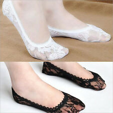 Sexy Women Rose Lace Invisible Shallow Mouth Socks Boat Non-slip Short Socks