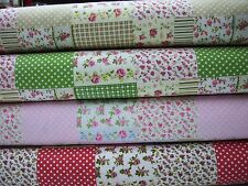 100% cotton rosebud patchwork fabric