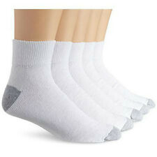 New 12 Pairs Ankle/Quarter Crew Mens Socks Cotton low cut 10-13 White LOT ALLWHT