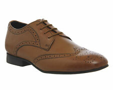 Mens Office Byron Brogue TAN LEATHER Formal Shoes
