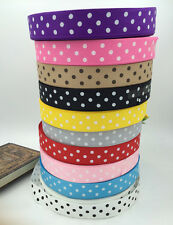"DIY  Multicolor 5 -10Yards 1 ""(25mm) printed lot large dots Grosgrain Ribbon lot"