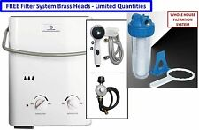 2017 Eccotemp L5 Portable Tankless Water Heater Outdoor Shower + Filter System