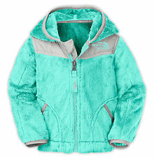 NWT The North Face Infant Baby Girls OSO Fleece Hoodie Jacket Mint Blue