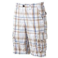 Mens Urban Pipeline Plaid Cargo Shorts- Size 34 -Classic Length -MSRP $44-NWT