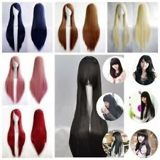 Cosplay Wig 100% Synthetic Hair Anime Costume Full Wigs Black Blonde Grey Red T5
