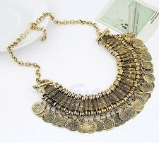 Ethnic Tribal Boho Coin Necklace Belly Dance Bohemian Festival Gypsy Jewelry New