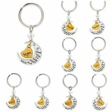 "New Chic Family ""I LOVE YOU TO THE MOON AND BACK "" keychain Key Ring Set Charms"