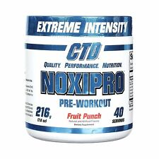 CTD LABS NOXIPRO Pre-Workout 40 Servings (216g) All Flavors NEW Extreme Intense