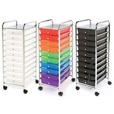 Seville 10 Drawer Rolling Scrapbook Office School Tools Storage Organizer Cart