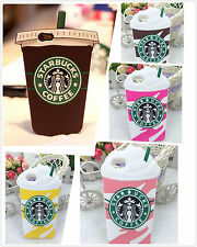 For iPhone and Samsung Starbucks Coffee Cup Soft Silicone Gel Cute Case Cover