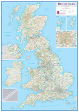 British Isles Routeplanning Wall Map *FREE UK SHIPPING*
