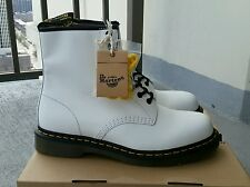 BWIB DR. MARTENS 1460 8 EYELET CLASSIC WHITE LEATHER BOOT 11822100