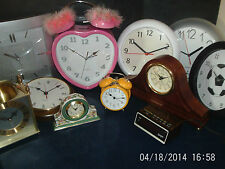 CLOCKS   ALARM, WALL, CARRIAGE, MANTLE -- click on the site to chose and order