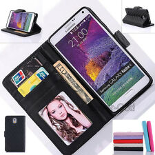 Flip Leather Wallet Photo Card Holder Stand Case Cover For Samsung Galaxy Phones