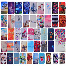 Patterned Wallet Card PU Leather Stand Case Cover For Samsung Galaxy A7 A7000