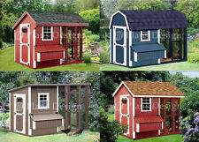 Chicken Coop Plans, four roof styles to chose, Saltbox, Barn, Modern and Gable