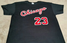 Chicago Bulls Michael Jordan Rookie year vtg style Jersey T-shirt Black or Red.