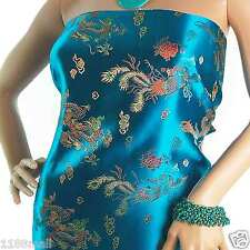 Stunning Faux Silk Dragon Phoenix CHINESE BROCADE FABRIC Designer Material 36W