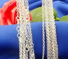 "wholesale 5pcs 2 mm 925 Sterling sterling silver ""O"" Chain necklace"