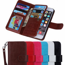 "Luxury 9 Card slot Leather Wallet Case Flip Cover For Iphone 6 4.7""& 6 Plus 5.5"""
