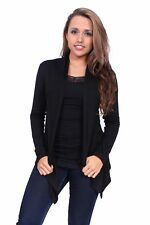 Women's Juniors Cardigan Casual Loose Knitted Sweater Tops Outwear Coat Jacket