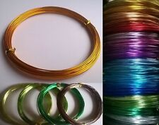 0.8mm 1mm 2mm Aluminium Craft Beading Wire Jewellery Making  1m, 10m, 20m