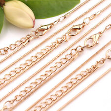 Wholesale 2/10PCS Lots 1MM Gold Plated Snake Chain Jewelry Necklace Finding 48cm