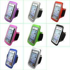 """Gym Sports Running Jogging Cycling Armband Leather Case Pouch Cover Holder 5.5"""""""