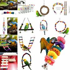 MLSTYLE Swing Bird Toy Parrot Rope Harness Cage Toys Parakeet Cockatiel Budgie