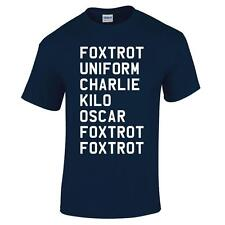 Foxtrot Funny Fathers Day Birthday Present Offensive Christmas Gift Mens T Shirt