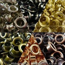 Eyelet with Washer 3mm 4mm 5mm 6mm & 8mm Leather Craft Repair  Grommet