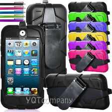For iPod Touch 5 5th Gen Soft Rubber High Impact Hard Case Hybrid Cover Stand