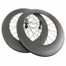 Very Light 88mm Carbon Clincher Tubular bike Wheels racing Carbon Wheelset 700C
