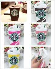 For iPhone and Samsung Cool Starbucks 3D Silicone Coffee Cup Phone Case Cover