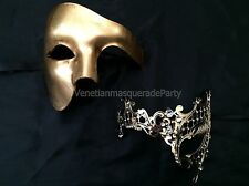 Phantom Masquerade mask pair for couple Halloween Costume Dress up Party Mask