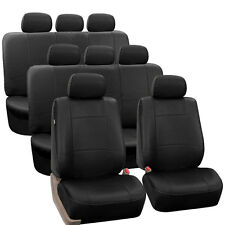 3-Row PU Leather Seat Covers for SUV Air Bag Safe & Split Bench Ready