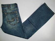 New Silver Jeans Men's ZAC Relaxed Fit Straight Leg Length 32/34  50424A