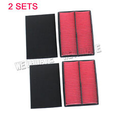 2 Sets AIR FILTER COMBO fits HONDA 17210-ZJ1-842 GX610 GX620 & GX670