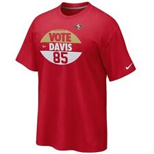 Nike Men's San Francisco 49ers Vote Davis Tee shirt NFL football red gold white
