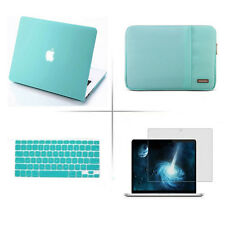 New Rubberized case keyboard cover sleeve bag Screen protector For Apple macbook