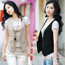 Trendy Women's Double-breasted Waistcoat Fashion Ladies Vest Waistcoat Tops Vest