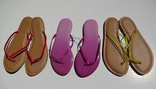 OLD NAVY  WOMENS FLIP FLOPS  ORANGE AND BLUE SIZE 9 AND  11M NWT
