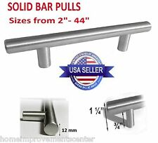 "Kitchen Cabinet Door Handle Brushed Nickel SOLID Bar Pulls 4"" 5"" 6"" 8"" 10"" - 44"""