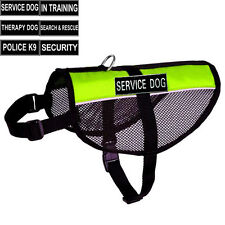 NEW REFLECTIVE Service Dog Vest Mesh Harness Cool label 2 patches IN TRAINING