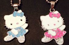 1 Hello Kitty Necklace & Pendant- 2 Colors to Choose (Blue or Pink)
