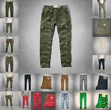 ABERCROMBIE & Fitch Men Cargo Jogger chinos pants Size 30-34 NWT green BROWN new