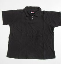 Mens Black Polo Shirts Shirt Medium Large Casual Dress 100% Cotton Lot 2 3 or 4