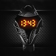 Silicone Iron Mens Lady Black White Cobra Red Led Digital Rubber Sports Watches