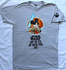 NEW Disney Star Wars Mickey May the 4th Be with You T-Shirt XS - 3XL - Fourth 4